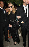 Madonna wore all black to the Gucci awards ceremony.
