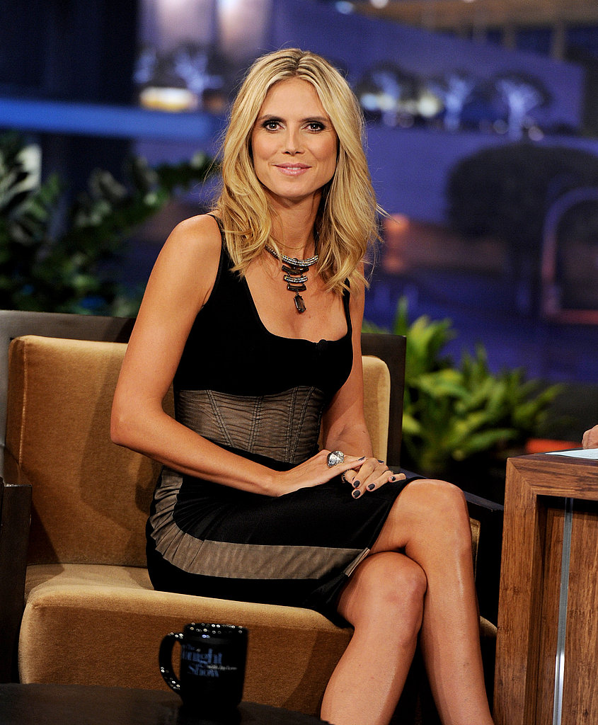 Heidi Klum chatted with the late-show host.