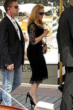 Madonna in a black lace dress at the Venice Film Festival.