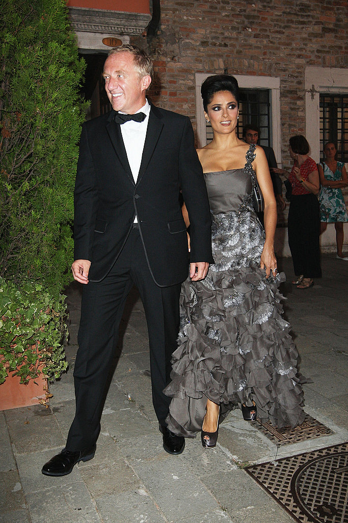 Salma Hayek's husband, Francois-Henri Pinault, is the head of Gucci Group.