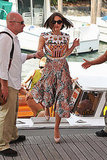 Keira Knightley had pep in her step at the Venice Film Festival.