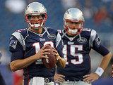 Tom Brady Takes the Field as the Patriots Are Edged Out by the Giants