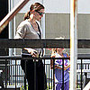 Pregnant Jennifer Garner Pictures Leaving LA With Violet Affleck