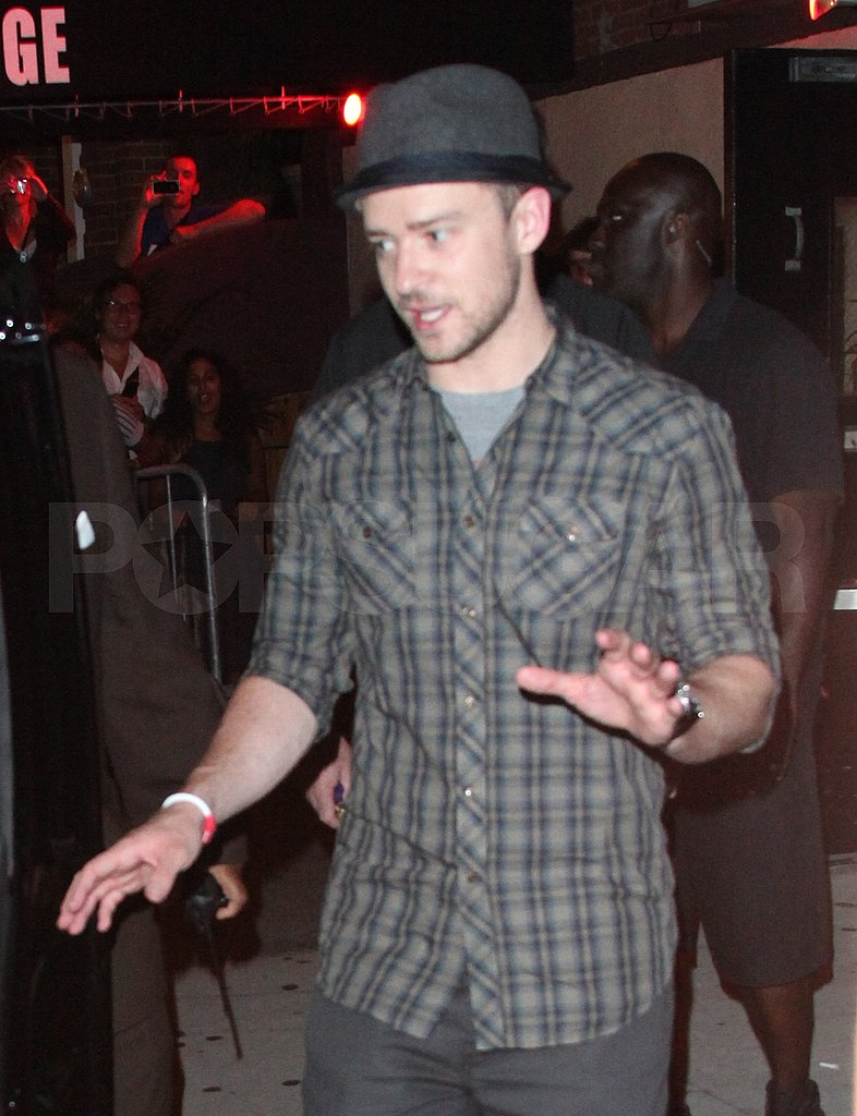 Justin Timberlake goes clubbing in NYC.