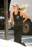 Gisele Bundchen in her workout clothes.