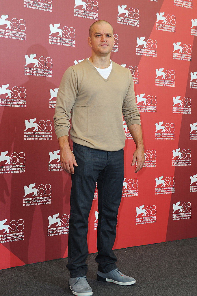 Matt Damon looks handsome in Venice.