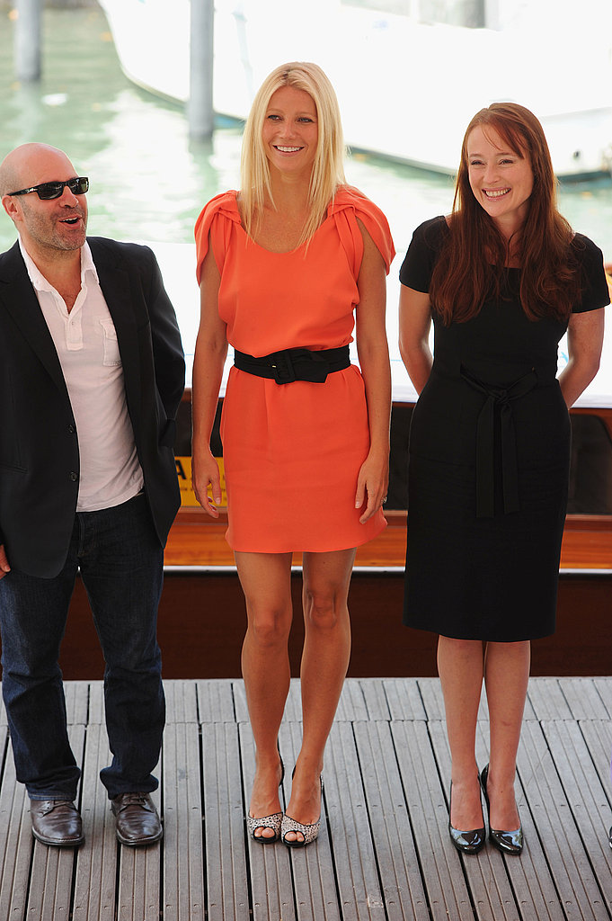 Scott Z. Burns, Gwyneth Paltrow, and Jennifer Ehle at the Venice Film Festival.