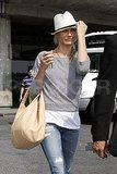 Cameron Diaz at JFK airport.