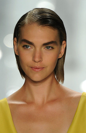 """I'm making the brows more powerful, but not bushy,"" Pecheux said of the look."