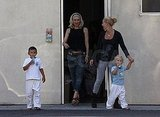Gwen Stefani with sons Zuma and Kingston.