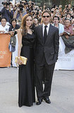 Angelina Jolie looked lovely in a Vivienne Westwood gown.