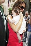 Harper Seven Beckham with her mom.