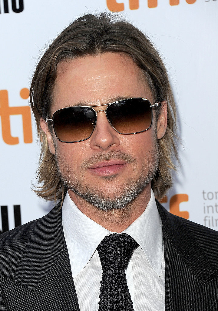 Brad Pitt wore sunglasses at night in Toronto.