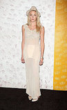 Byrdie Bell went super sheer and soft at Barneys party for Carine Roitfeld.