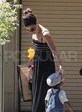 Sandra Bullock with her son Louis Bullock.