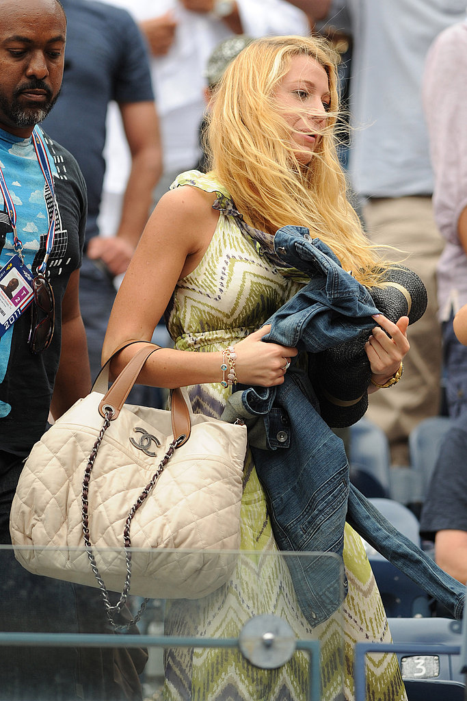 Blake Lively with a Chanel bag.