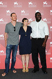Michael Fassbender, Abi Morgan and director Steve McQueen attend the Shame photo call.