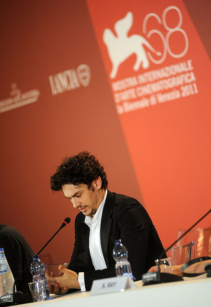 James Franco at a press conference.