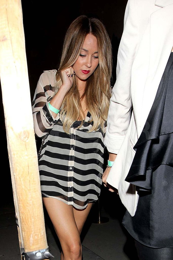 Lauren Conrad out at the Troubadour.