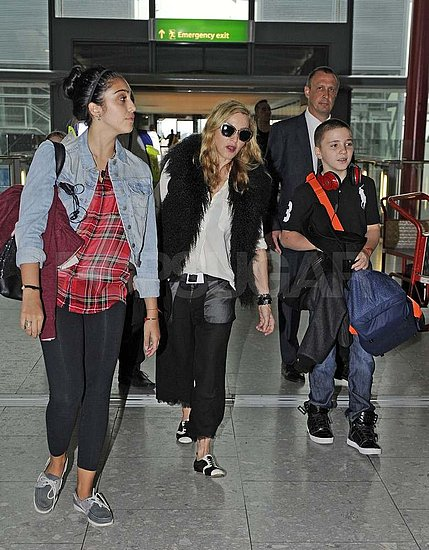 Madonna, Lourdes, and Rocco Return to the States Following Their Overseas Fun
