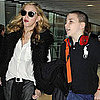 Madonna, Lourdes, and Rocco at Heathrow After Venice Pictures