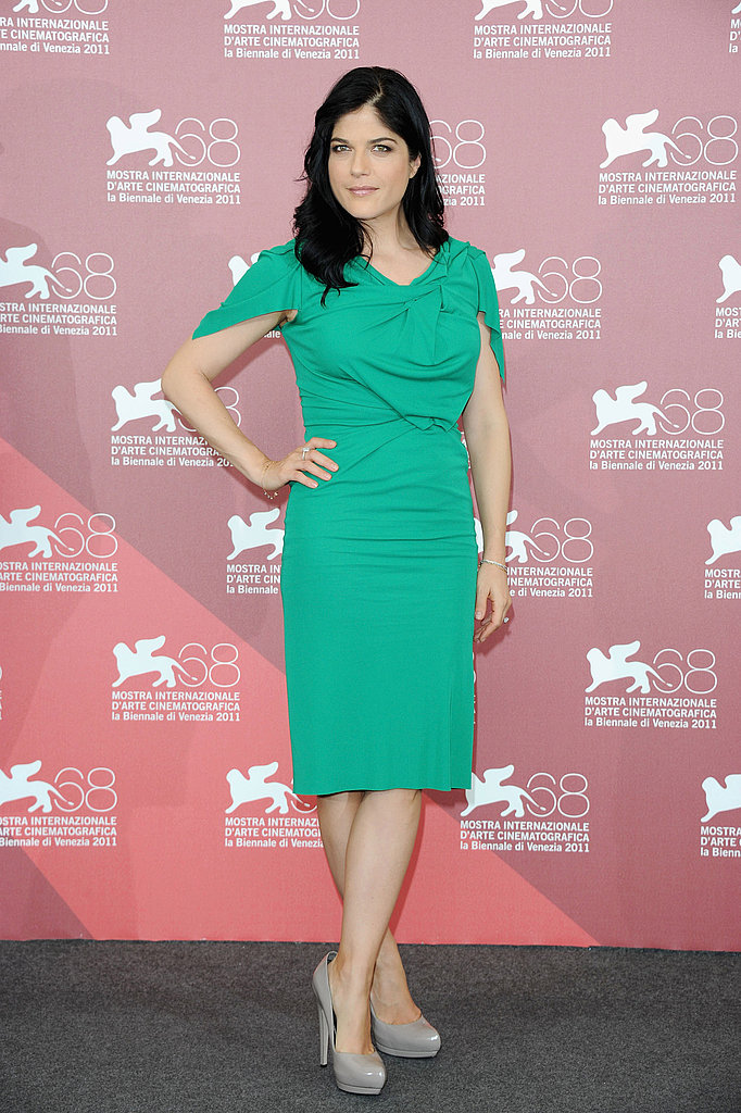 Selma Blair in green Roland Mouret.