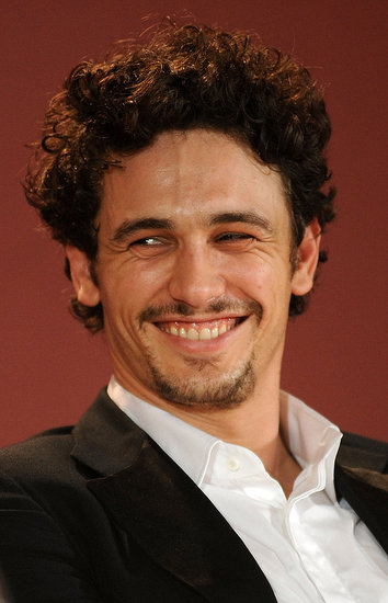 James Franco at a Sal press conference.
