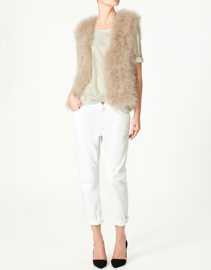 Zara Feather Gilet ($129)
