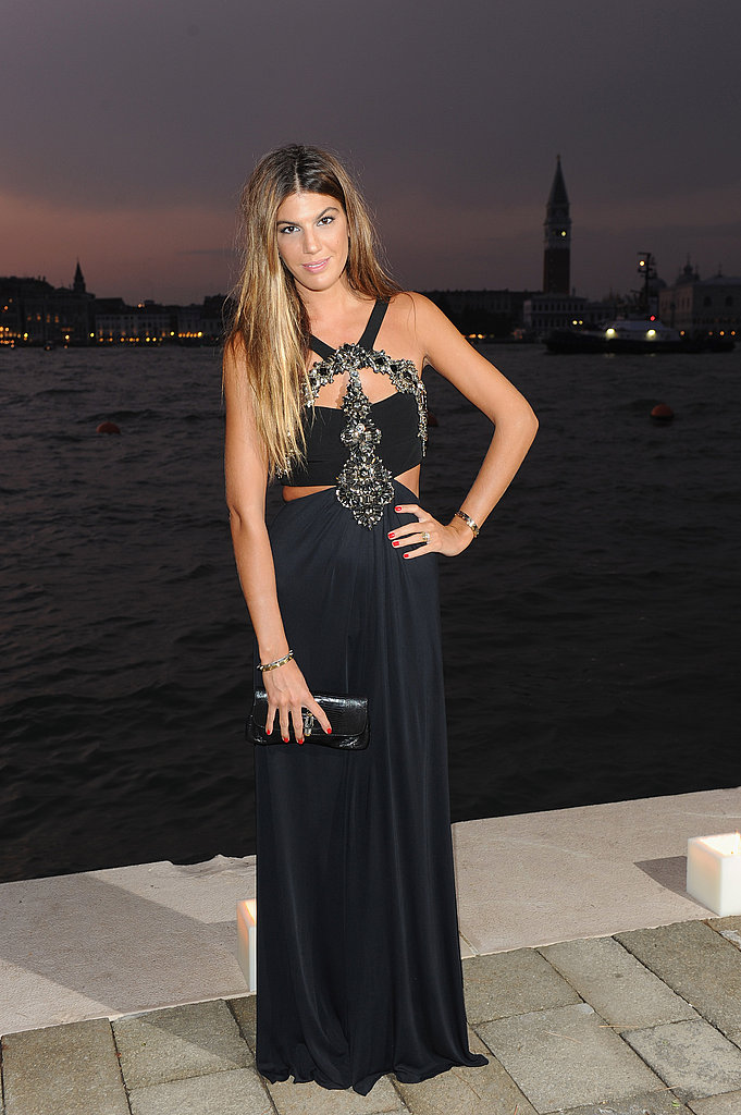 Bianca Brandolini d'Adda donned a black cutout Gucci gown at the Gucci Award For Women in Cinema event.
