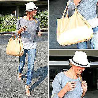 Cameron Diaz Carrying a Tod's Tote Bag
