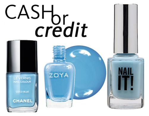 Cash or Credit: Baby Blue Nail Polishes, Perfect For Spring!