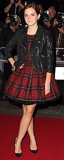 Emma Watson in Plaid McQ Dress at GQ Awards