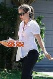 Pregnant Jennifer Garner at a friend's birthday.