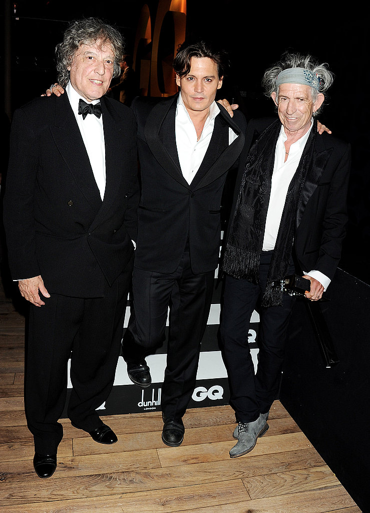 Johnny Depp poses with Keith Richards and Tom Stoppard.