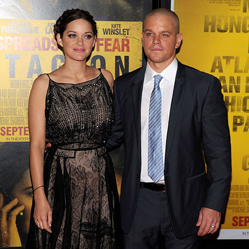 Matt Damon and Marion Cotillard at NYC Premiere of Contagion Pictures
