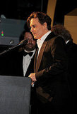 Johnny Depp introduces Keith Richards.