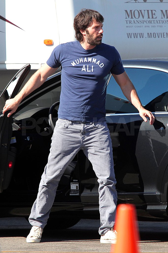 Ben Affleck drove himself to a studio in LA.