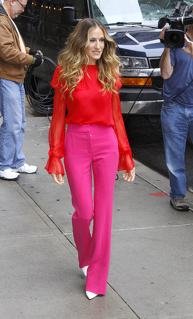 Sarah Jessica Parker at The Late Show in NYC.