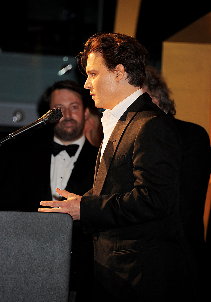 Johnny Depp onstage at the GQ Men of the Year party.
