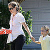 Pregnant Jennifer Garner With Violet at Party Pictures