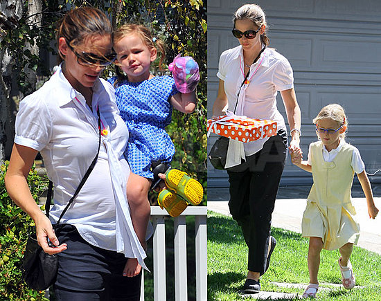 Pregnant Jennifer Garner Gets the Party Started With Her Girls