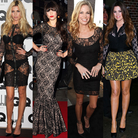 Celebrity Black Lace Trend Fall 2011