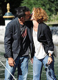 Thomas Trabacchi and Carlotta Natoli lock lips during the Venice International Film Festival.