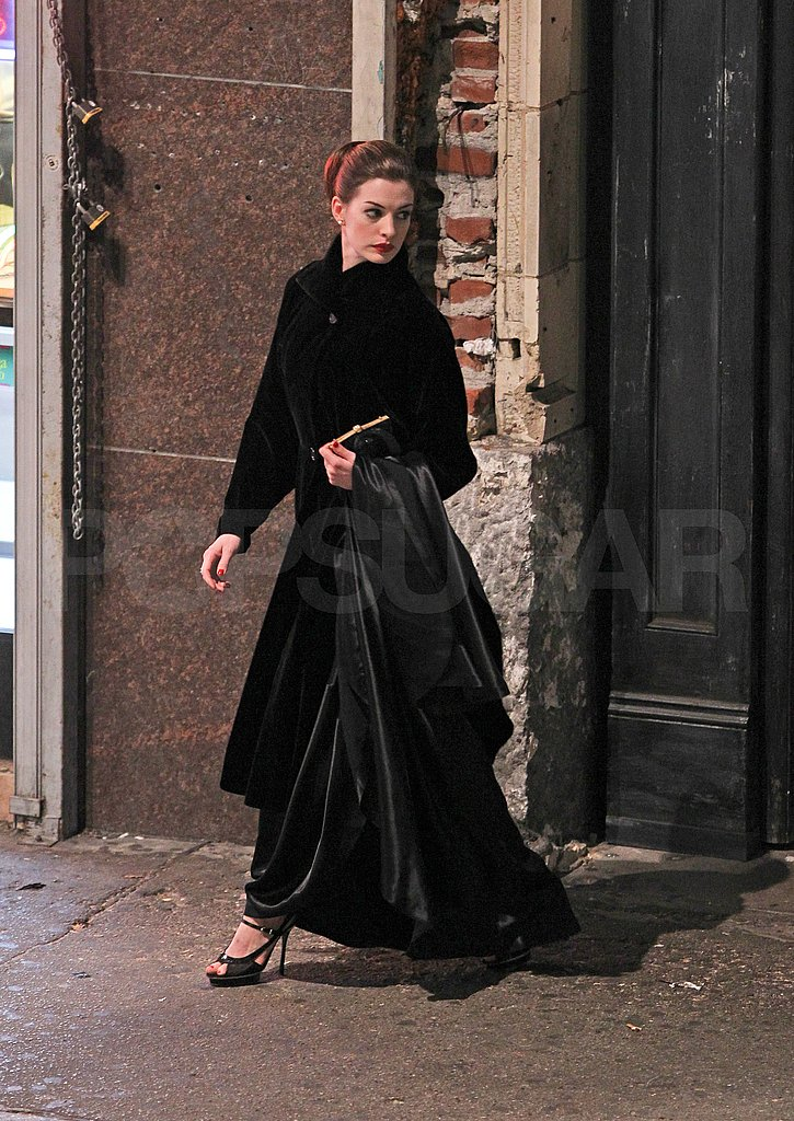 Anne Hathaway as Selina Kyle for The Dark Knight Rises in LA.