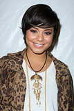 Vanessa Hudgens smiles at Fashion Week.