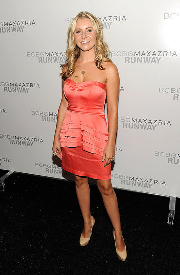 Beverley Mitchell at Fashion Week.