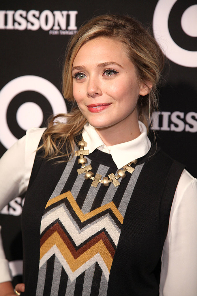 Up and coming star Elizabeth Olsen celebrated Missoni.