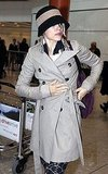 Rachel McAdams cozied up in a trench.