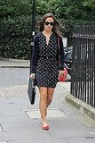 Pippa Middleton in red shoes.