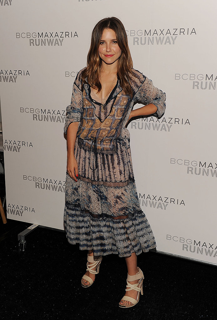 Sophia Bush at the BCBGMAXAZRIA show.